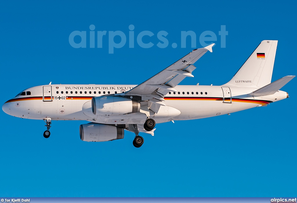 15-02, Airbus A319-100CJ, German Air Force - Luftwaffe