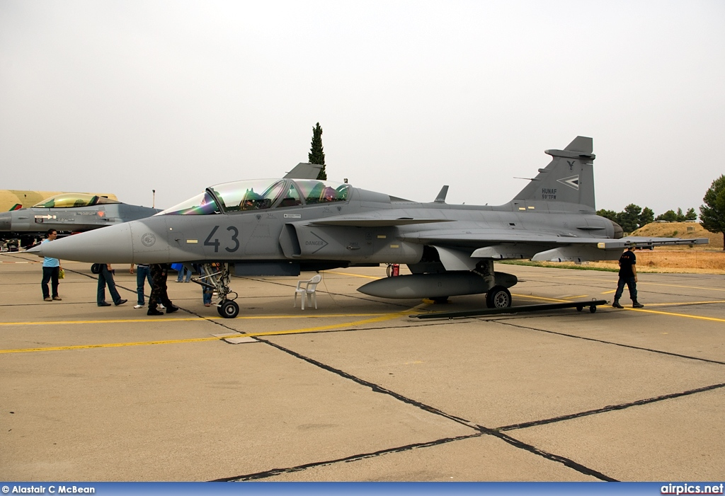 43, Saab JAS 39D Gripen, Hungarian Air Force