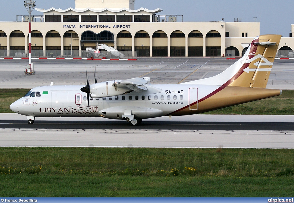 5A-LAG, ATR 42-500, Libyan Airlines