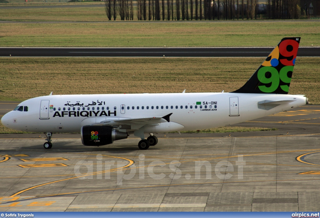 5A-ONI, Airbus A319-100, Afriqiyah Airways