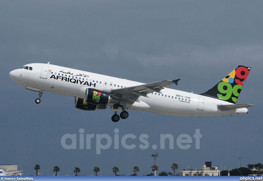 5A-ONM, Airbus A320-200, Afriqiyah Airways