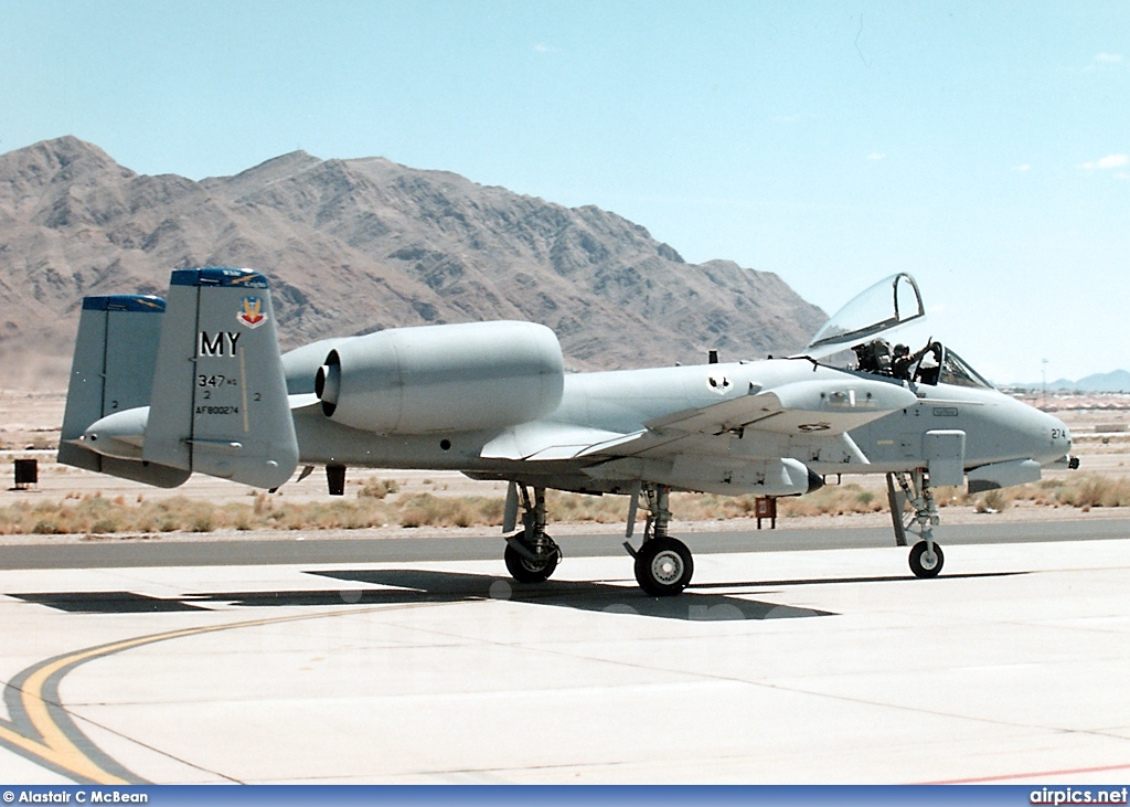 80-0274, Fairchild A-10A Thunderbolt II, United States Air Force