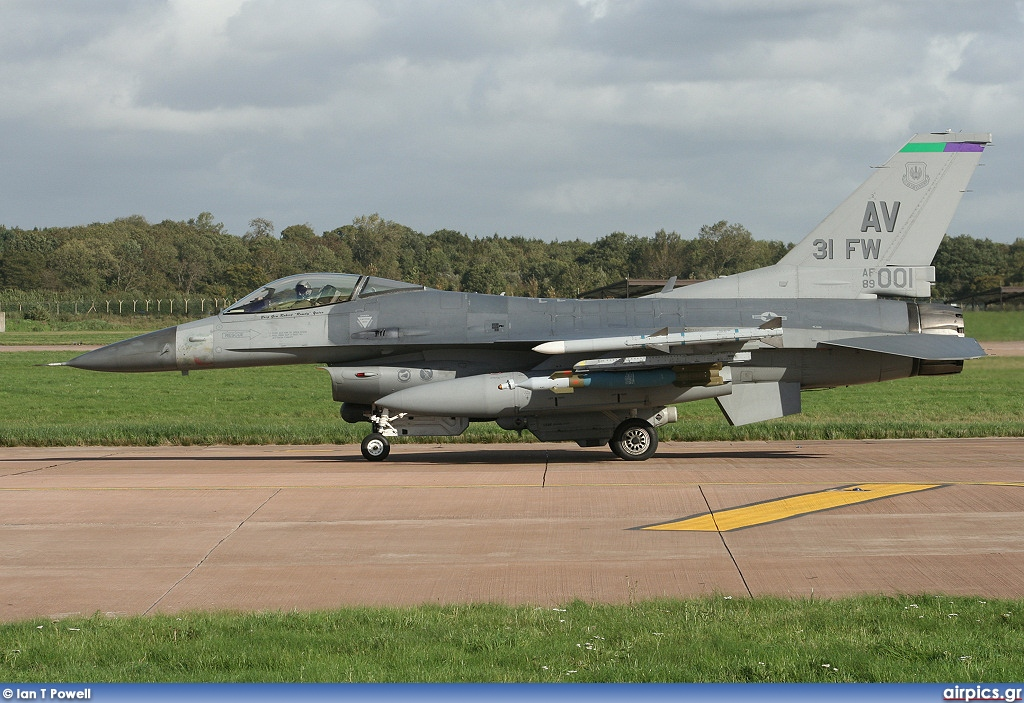 89-2001, Lockheed F-16-CG Fighting Falcon, United States Air Force