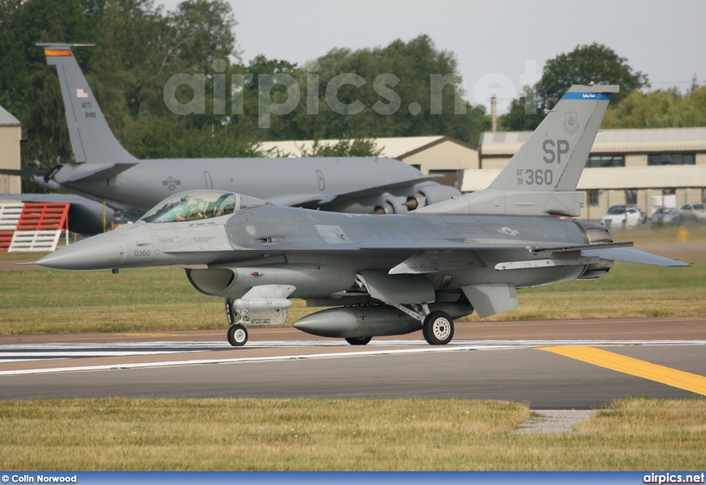 91360, Lockheed F-16-CJ Fighting Falcon, United States Air Force