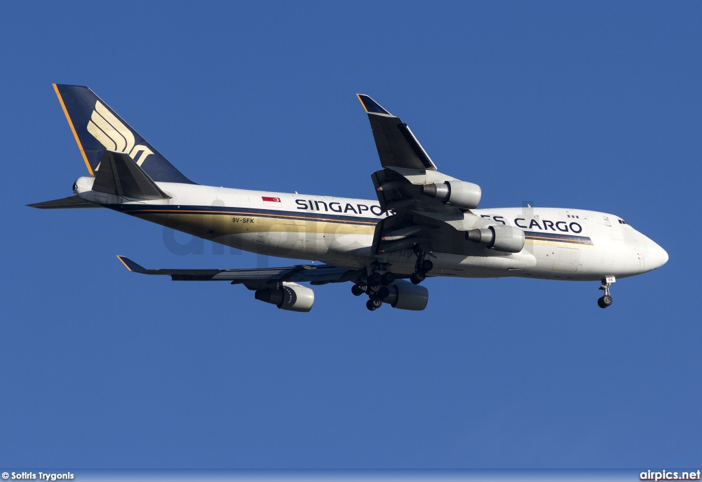 9V-SFK, Boeing 747-400F(SCD), Singapore Airlines Cargo