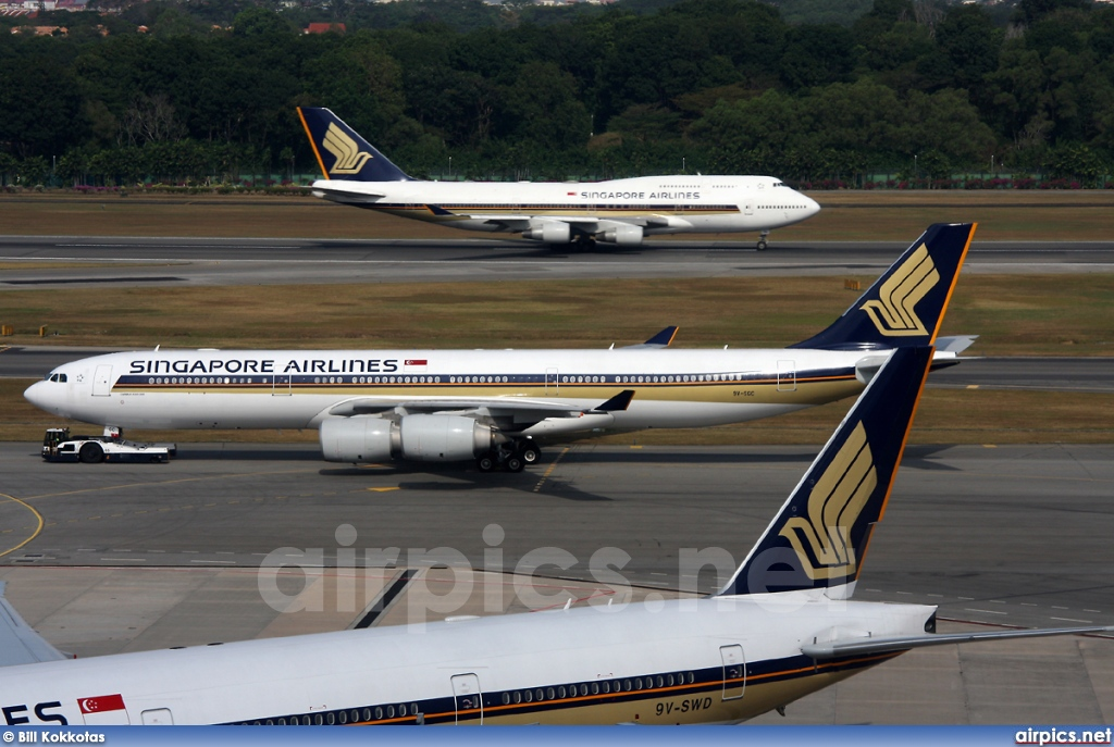 9V-SGC, Airbus A340-500, Singapore Airlines