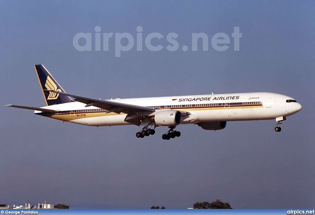9V-SYB, Boeing 777-300, Singapore Airlines