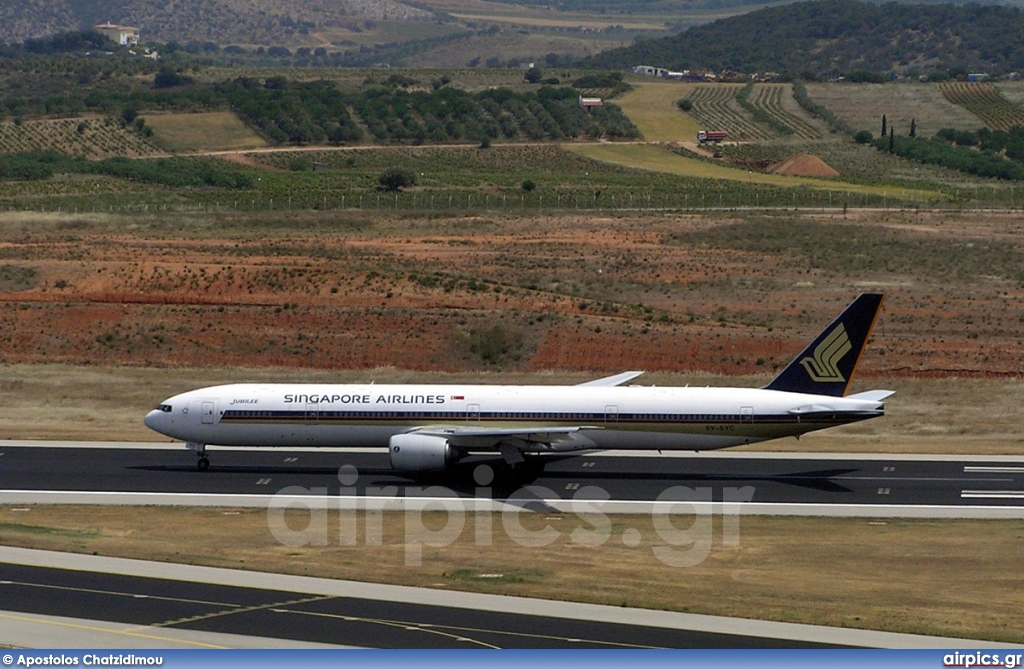 9V-SYC, Boeing 777-300, Singapore Airlines
