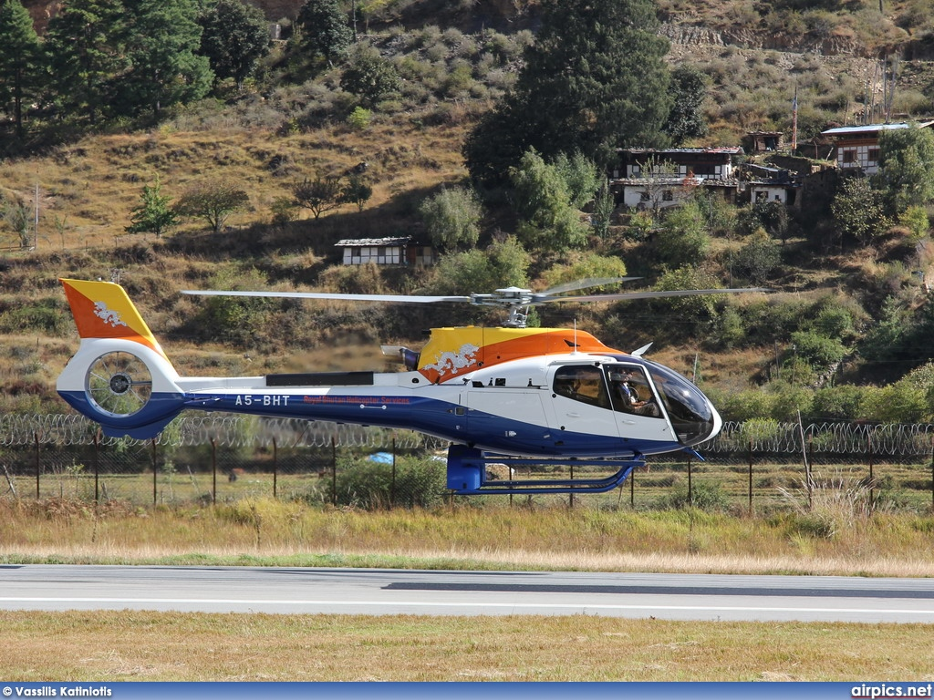 A5-BHT, Eurocopter EC 130T2, Druk Air - Royal Bhutan Airlines