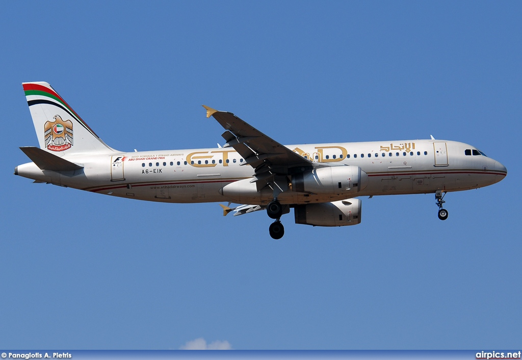 A6-EIK, Airbus A320-200, Etihad Airways