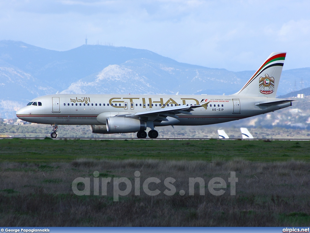 A6-EIP, Airbus A320-200, Etihad Airways