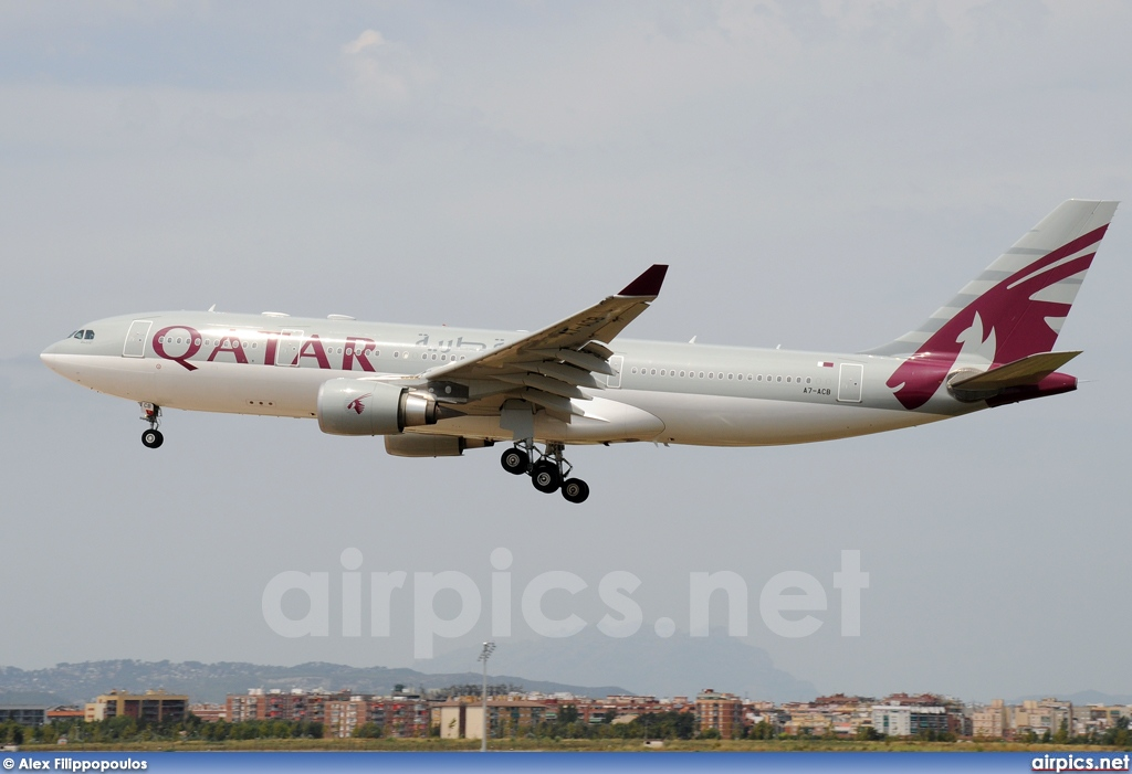 A7-ACB, Airbus A330-200, Qatar Airways