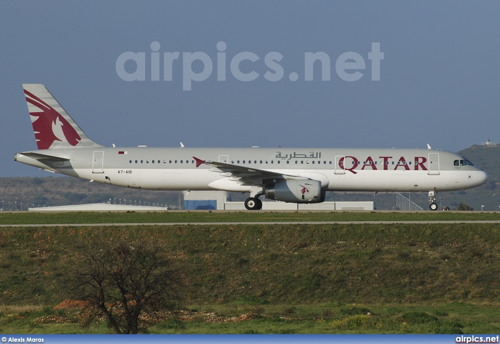 A7-AIB, Airbus A321-200, Qatar Airways