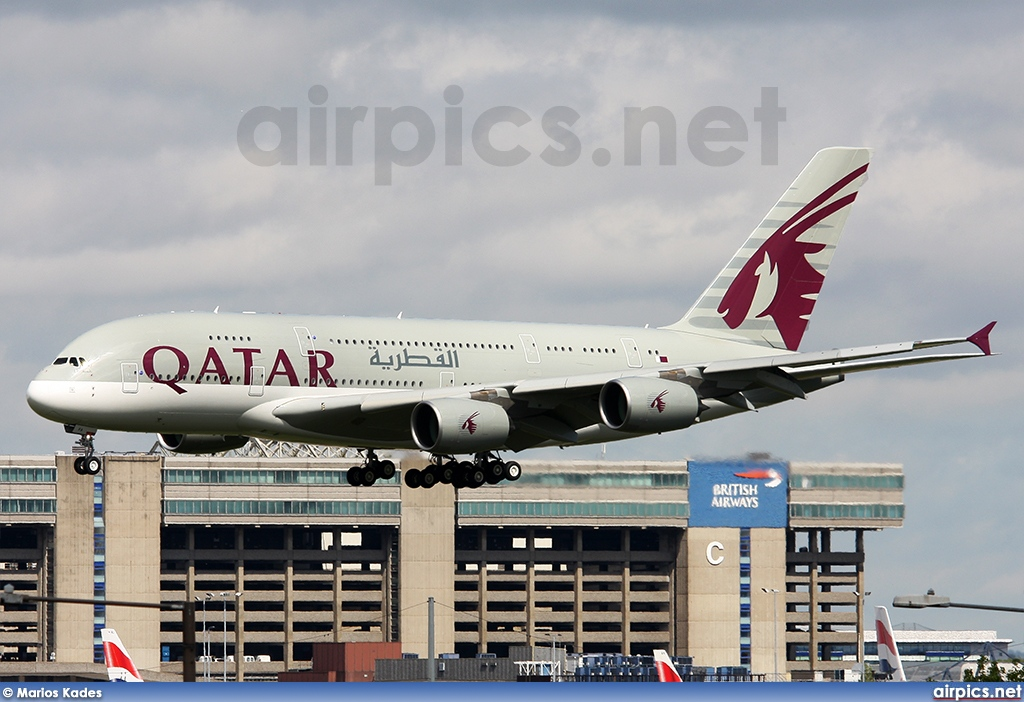 A7-APA, Airbus A380-800, Qatar Airways