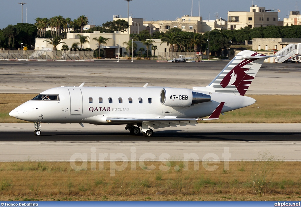 A7-CEB, Bombardier Challenger 600-CL-605, Qatar Executive