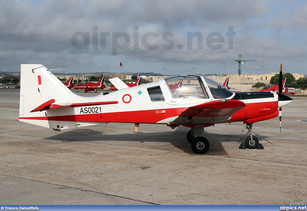 AS0021, Scottish Aviation Bulldog T1, Malta Air Force