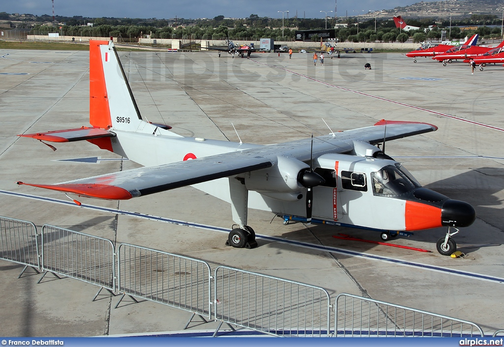 AS9516, Britten-Norman BN-2B Islander II, Malta Air Force
