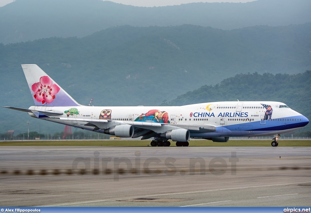 B-18203, Boeing 747-400, China Airlines