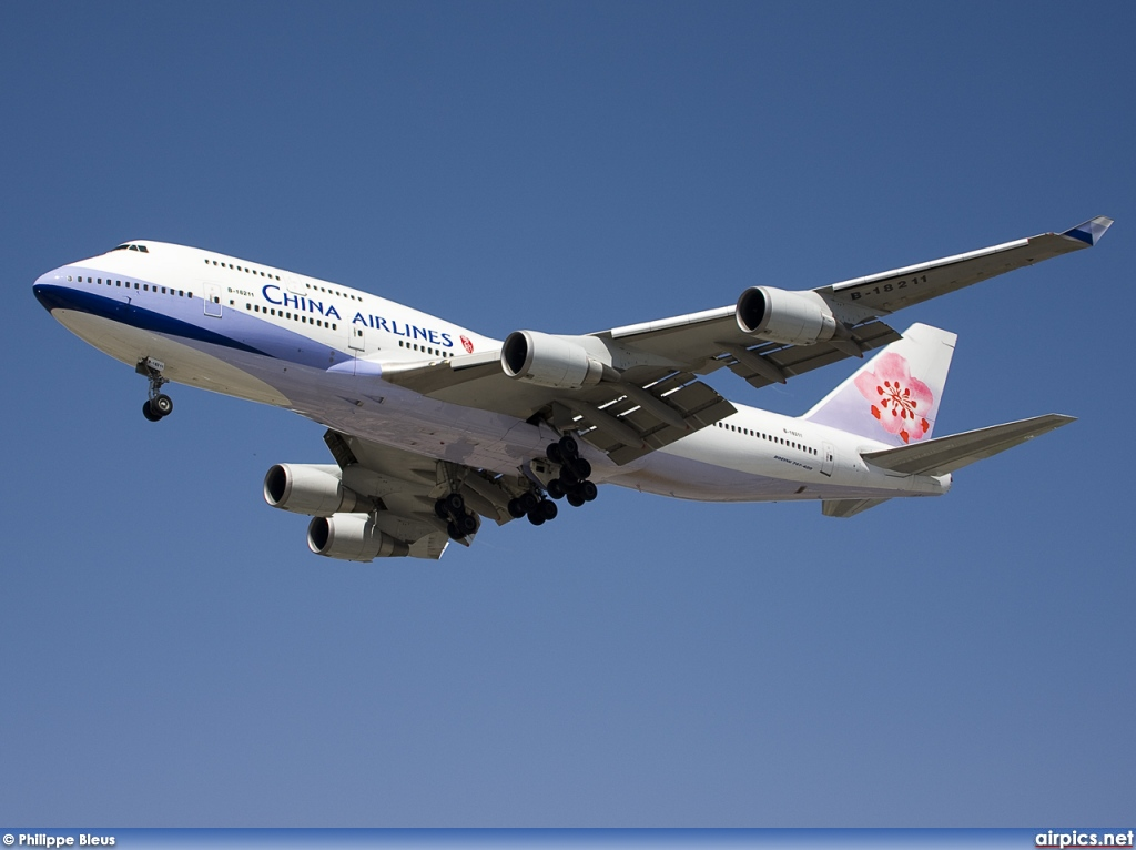 B-18211, Boeing 747-400, China Airlines