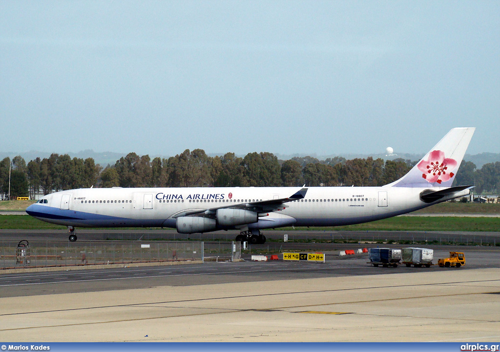B-18807, Airbus A340-300, China Airlines
