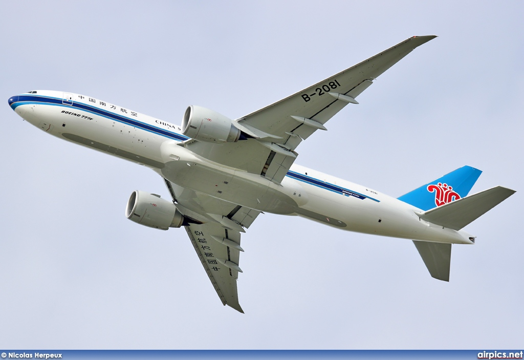 B-2081, Boeing 777F, China Southern Cargo