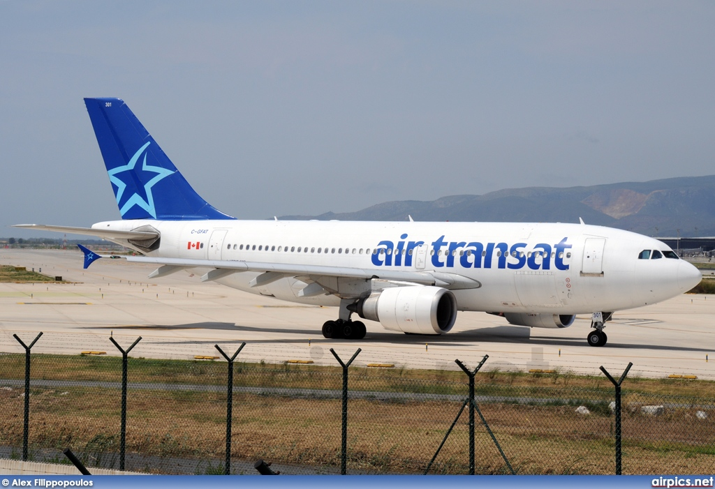 airpics net c gfat airbus a310 300 air transat large size