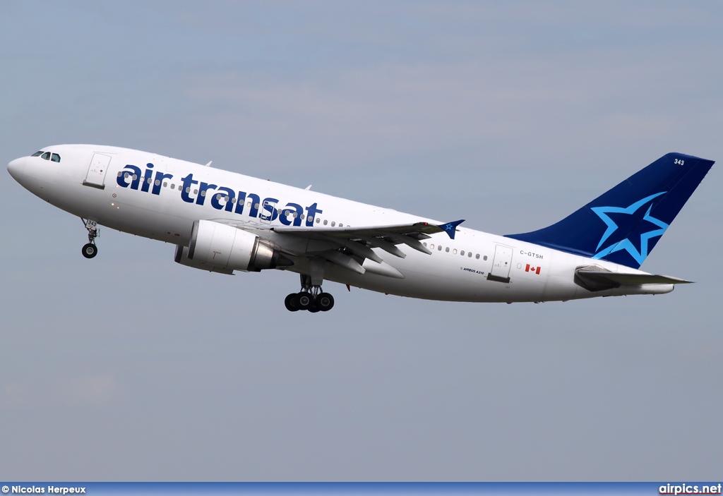 airpics net c gtsh airbus a310 300 air transat large size