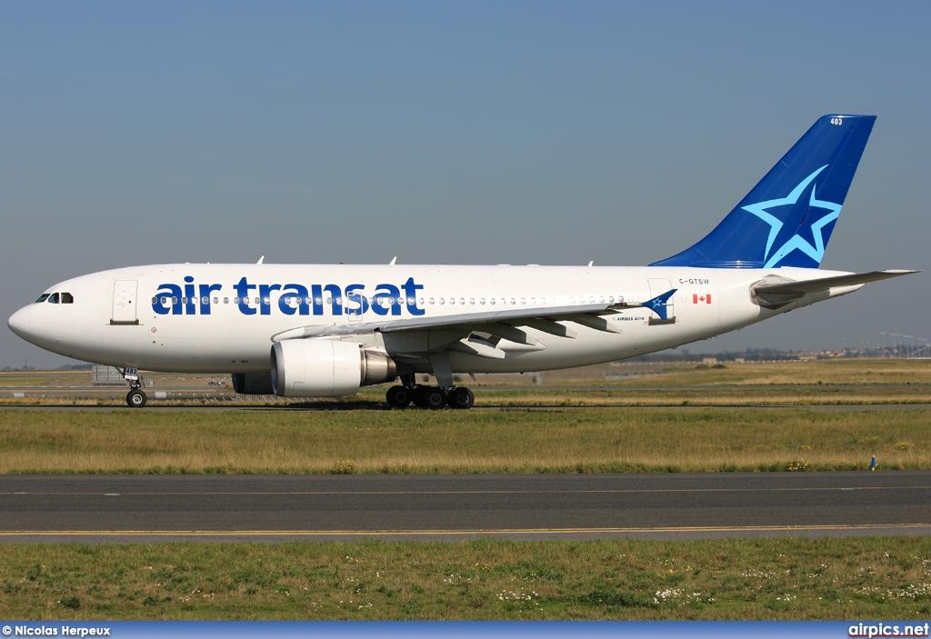 airpics net c gtsw airbus a310 300 air transat large size