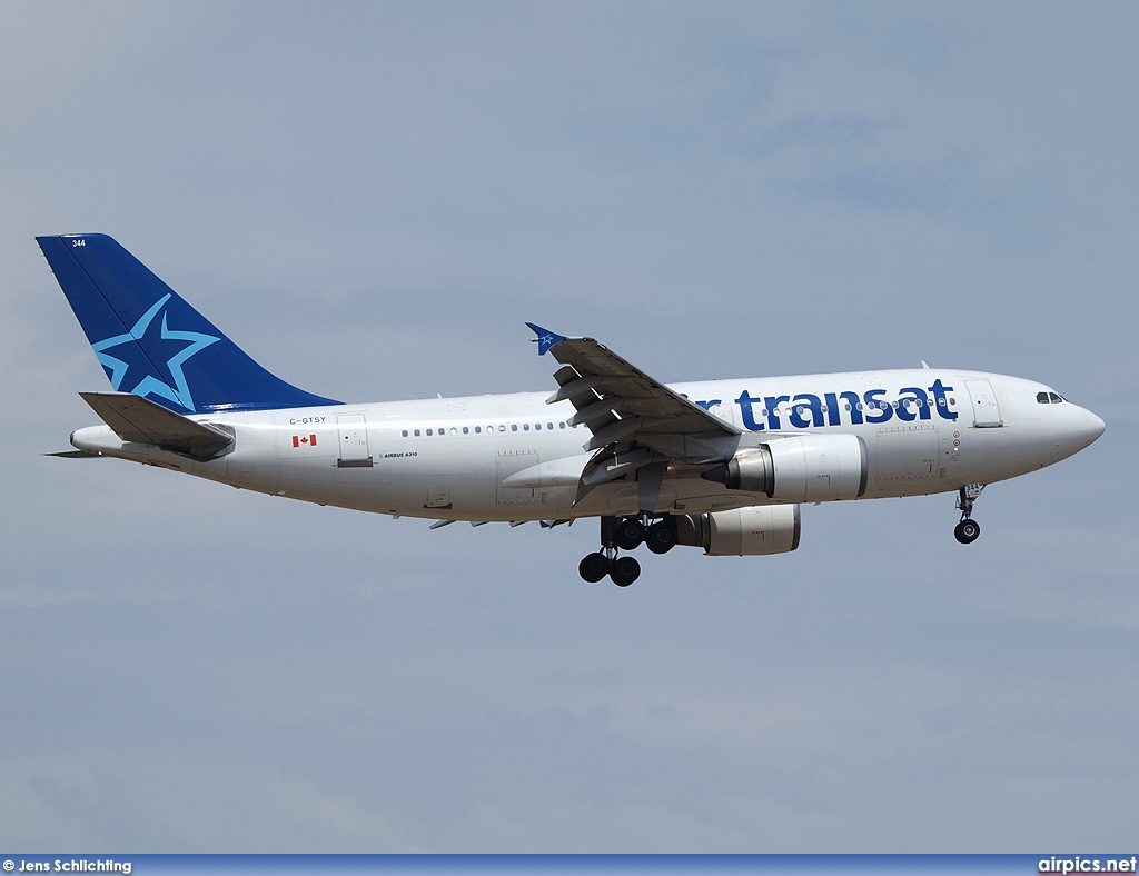 airpics net c gtsy airbus a310 300 air transat large size