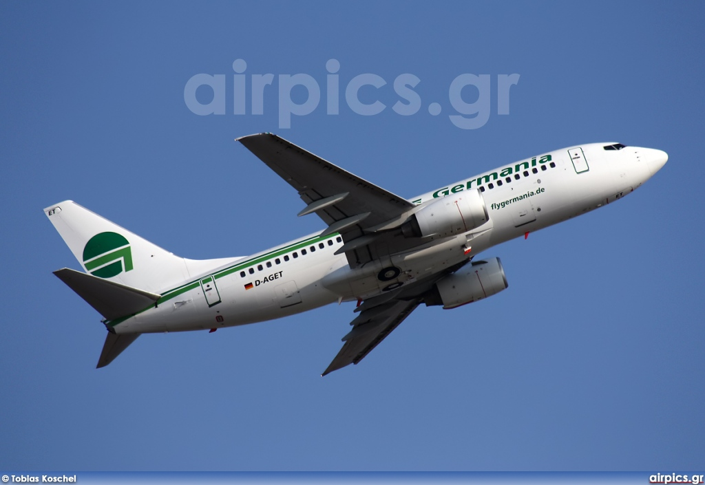 D-AGET, Boeing 737-700, Germania