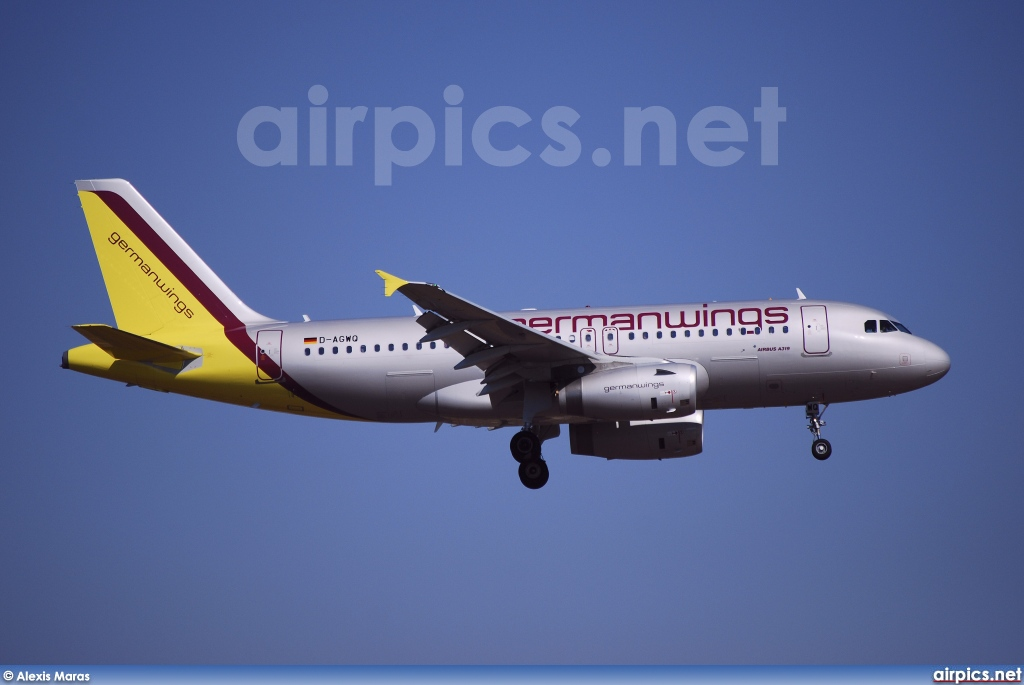 D-AGWQ, Airbus A319-100, Germanwings