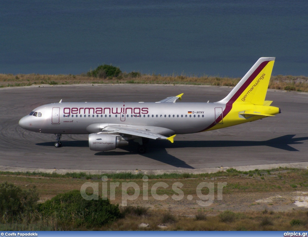 D-AKNV, Airbus A319-100, Germanwings