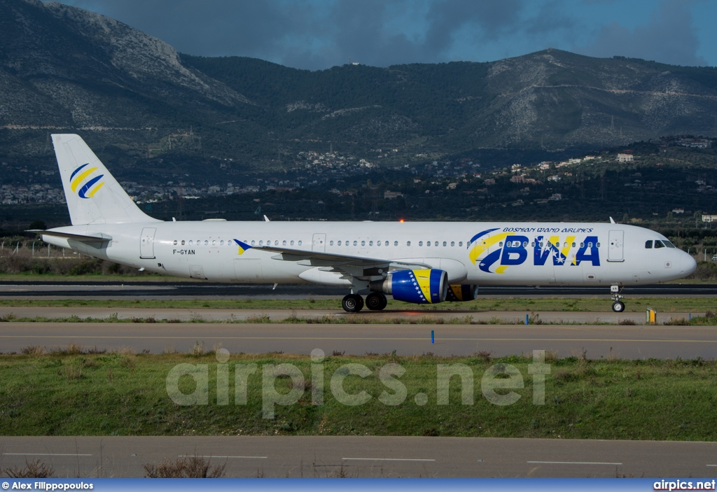 F-GYAN, Airbus A321-100, Bosnian Wand Airlines