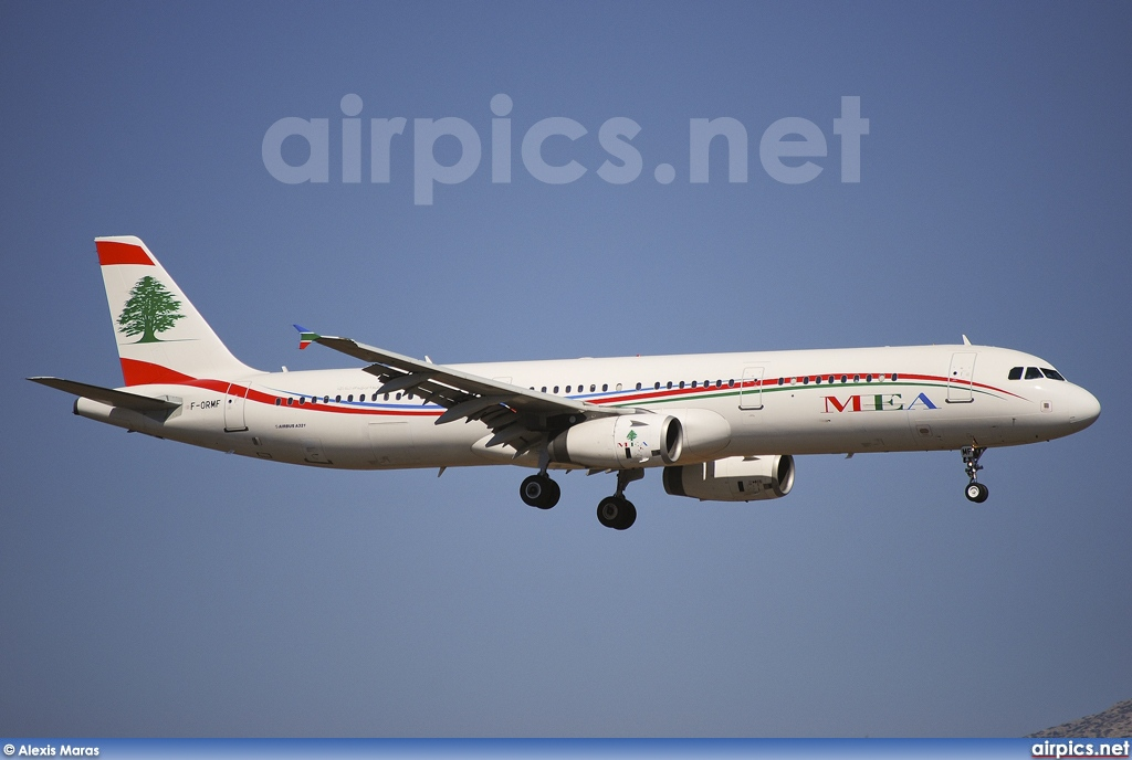 F-ORMF, Airbus A321-200, Middle East Airlines (MEA)