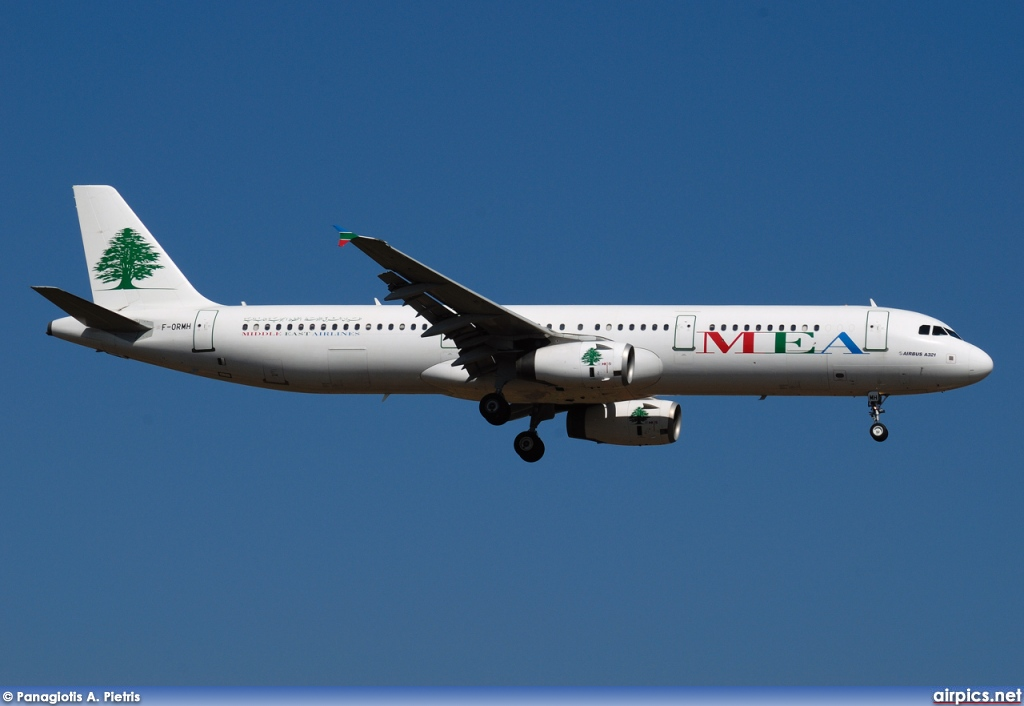 F-ORMH, Airbus A321-200, Middle East Airlines (MEA)