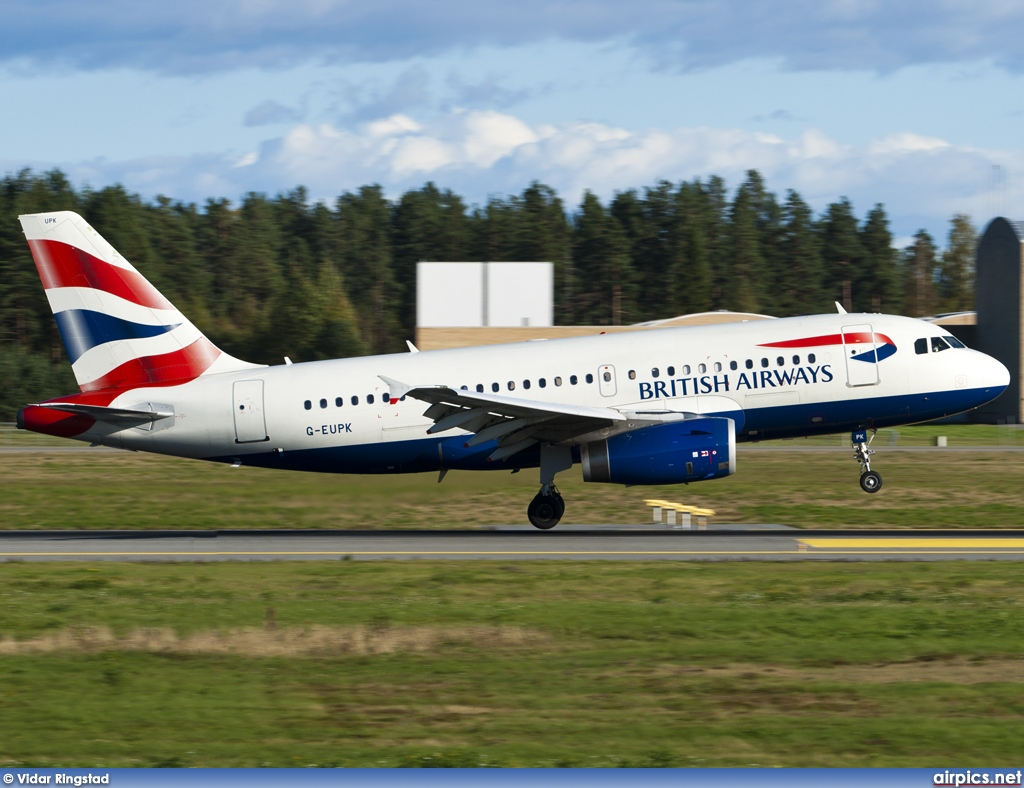 G-EUPK, Airbus A319-100, British Airways