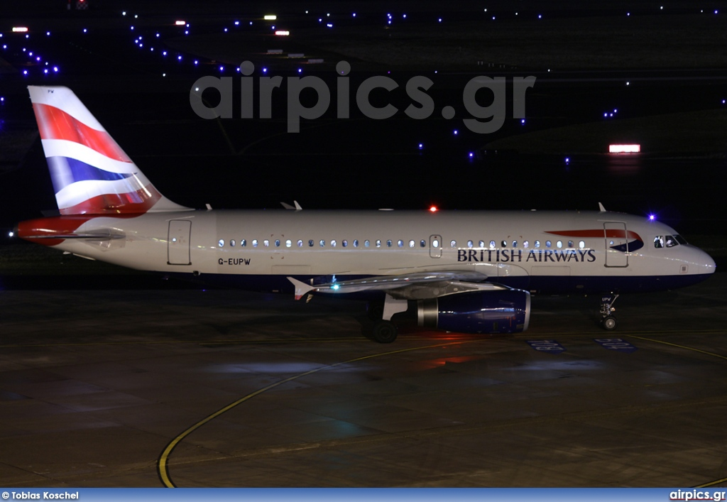 G-EUPW, Airbus A319-100, British Airways