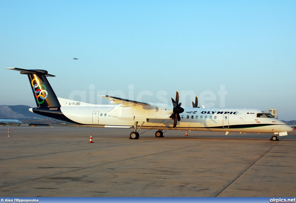 G-FLBD, De Havilland Canada DHC-8-400Q Dash 8, Olympic Air