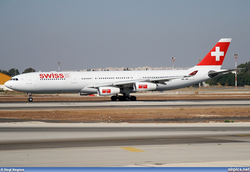HB-JMI, Airbus A340-300, Swiss International Air Lines