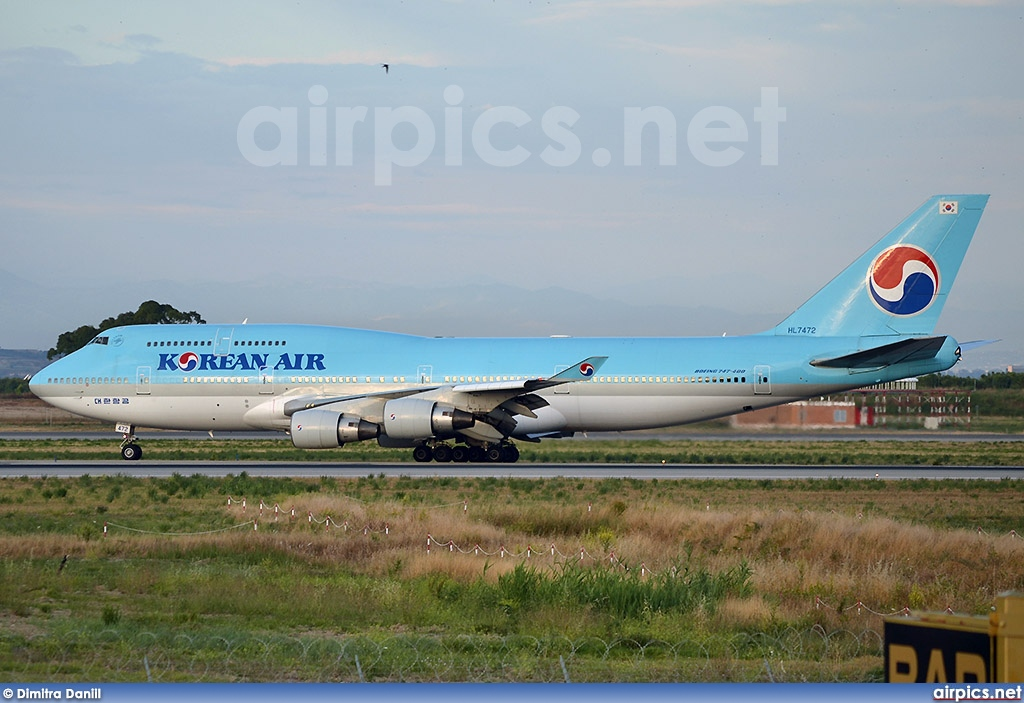 HL7472, Boeing 747-400, Korean Air