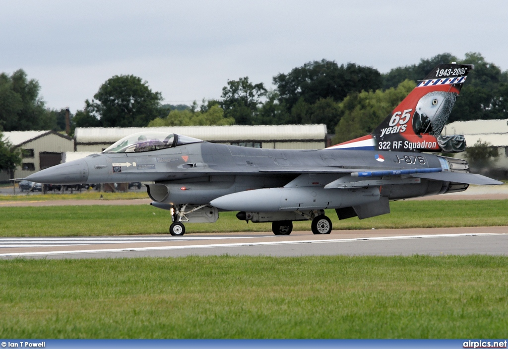 J-876, Lockheed F-16AM Fighting Falcon, Royal Netherlands Air Force