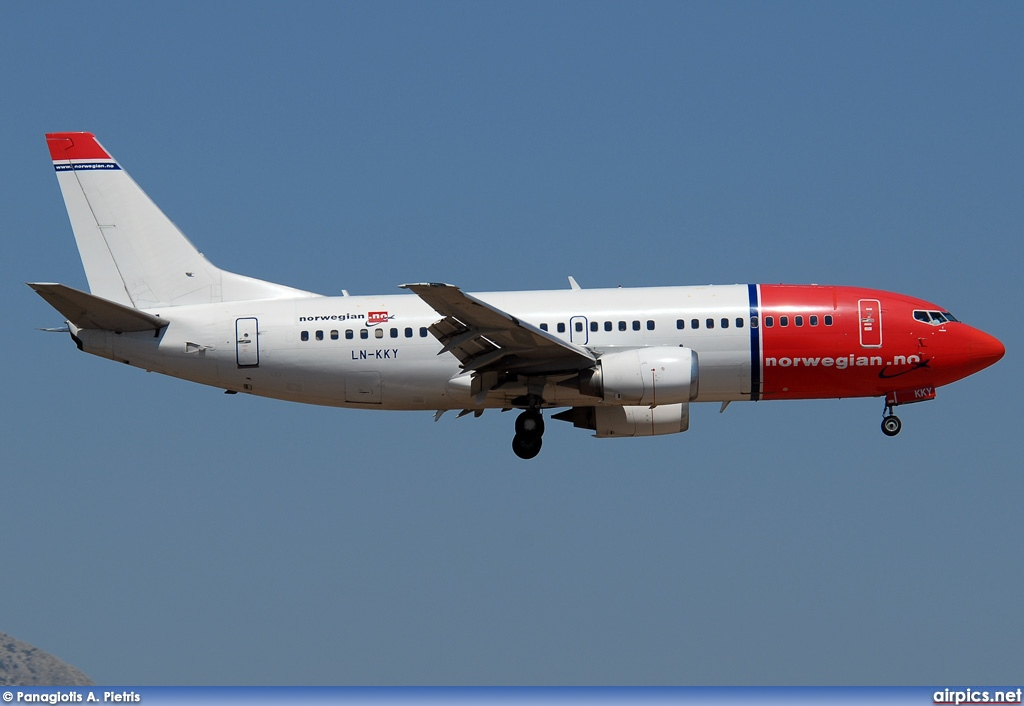 LN-KKY, Boeing 737-300, Norwegian Air Shuttle