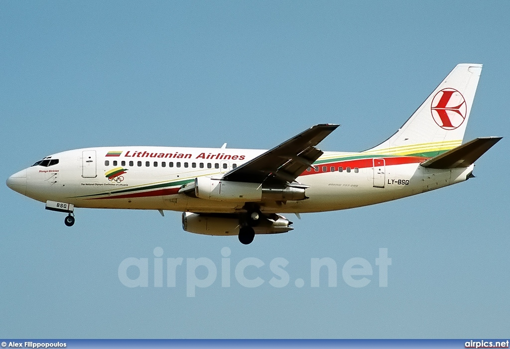 LY-BSG, Boeing 737-200Adv, Lithuanian Airlines