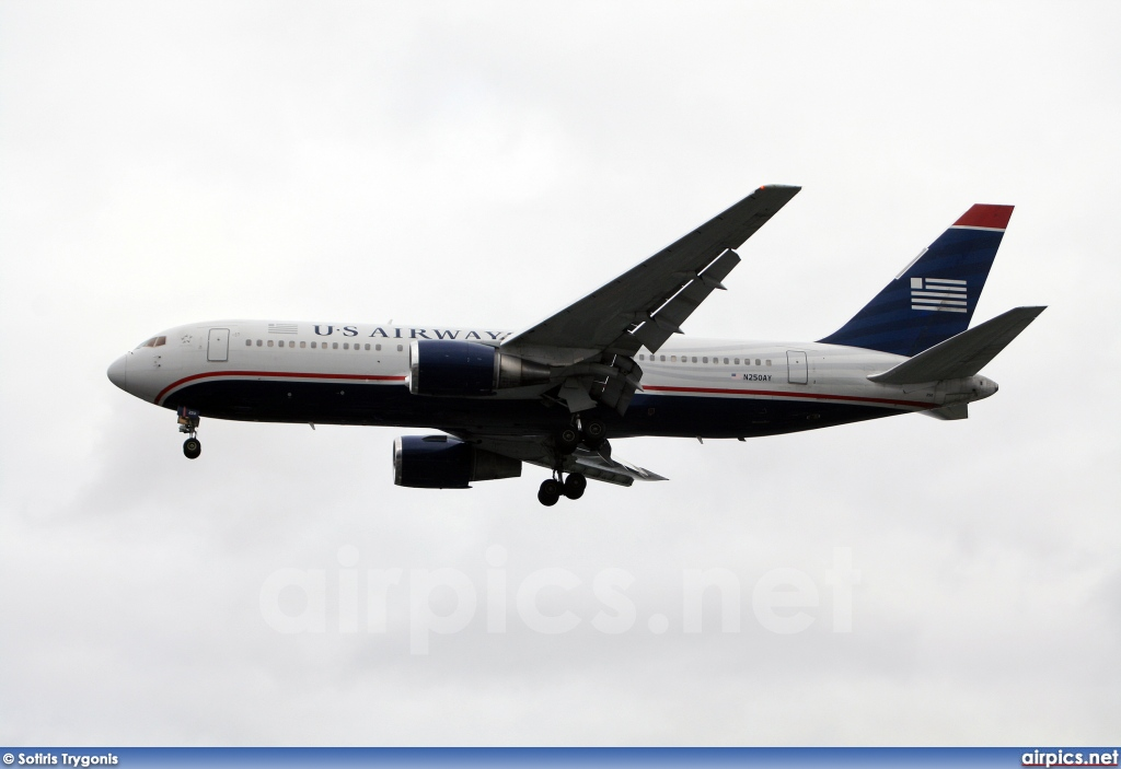 N250AY, Boeing 767-200ER, US Airways