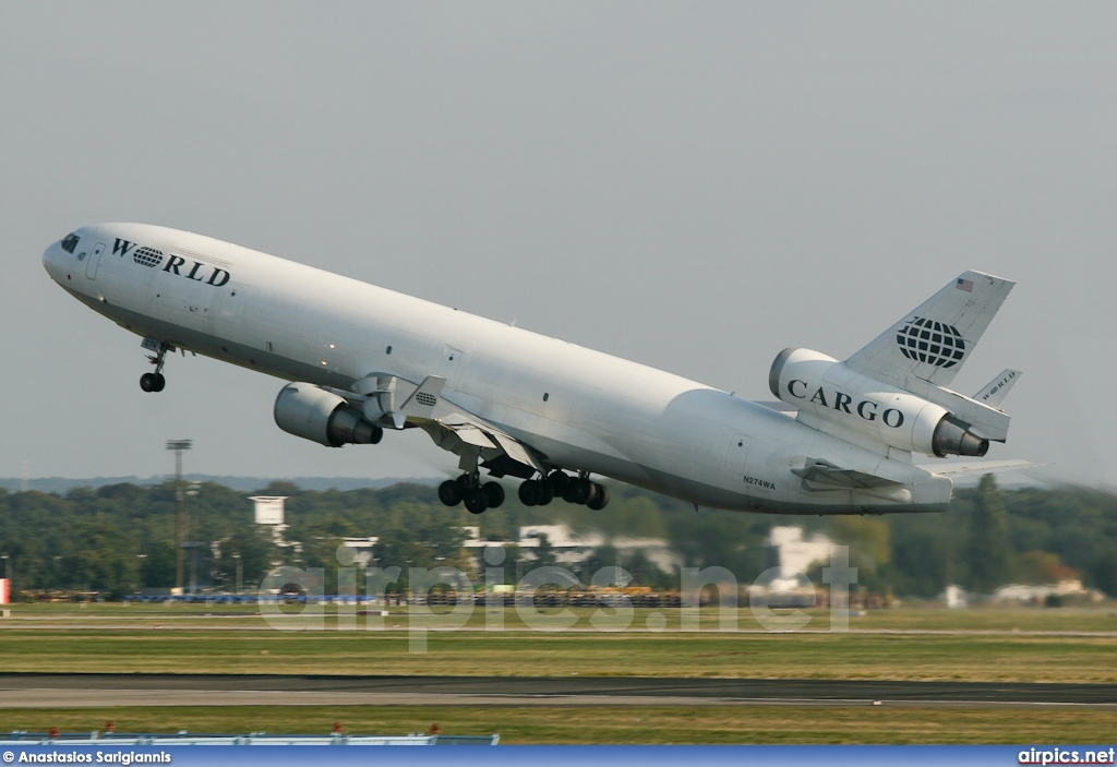 N274WA, McDonnell Douglas MD-11-F, World Airways Cargo