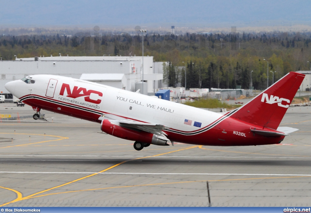 N321DL, Boeing 737-200AdvF, Northern Air Cargo - NAC