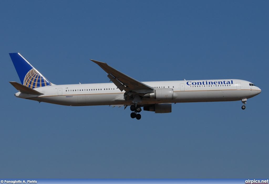 N66057, Boeing 767-400ER, Continental Airlines
