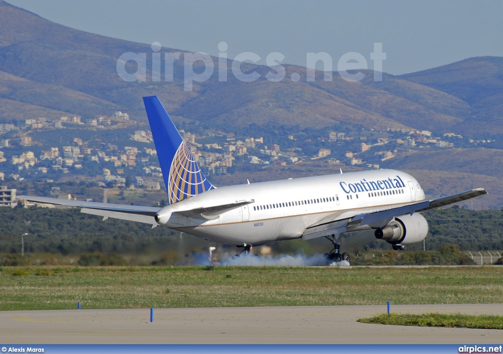 N68159, Boeing 767-200ER, Continental Airlines