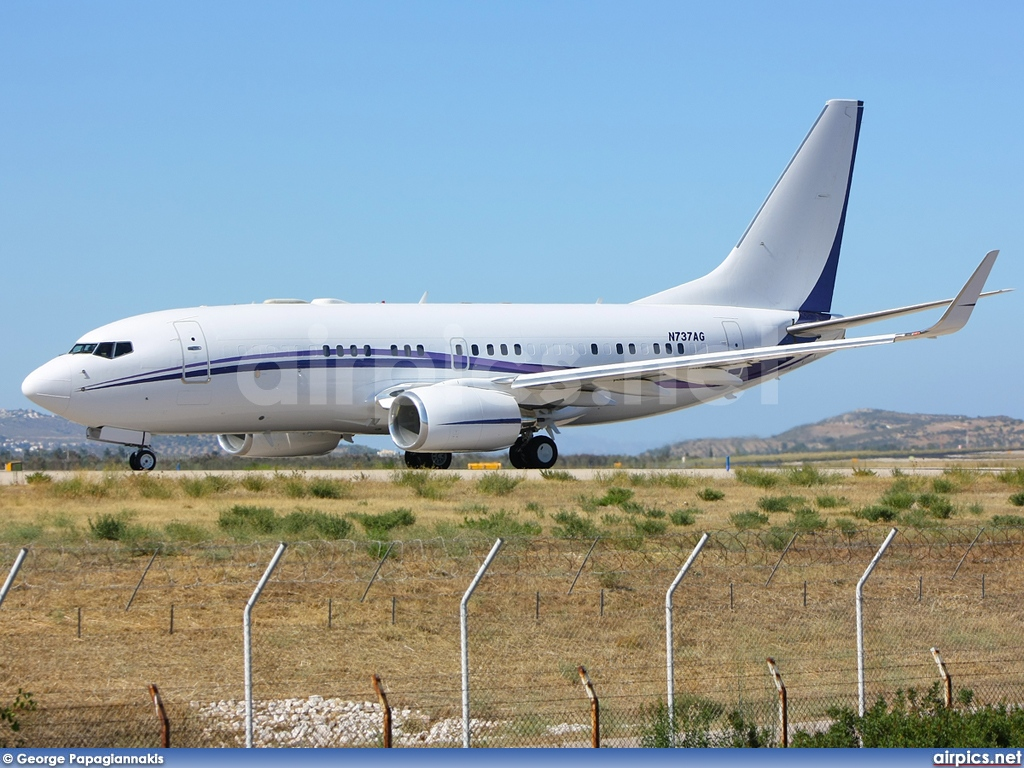 N737AG, Boeing 737-700/BBJ, Private