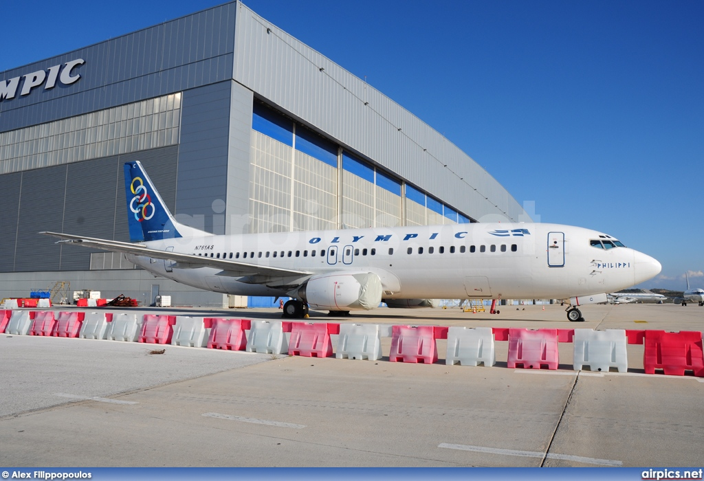 N761AS, Boeing 737-400, Olympic Airlines